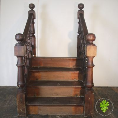Large pair of Oak Ballasted stairs /steps