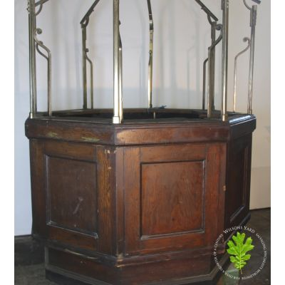 Beautiful Oak and Brass ticket booth