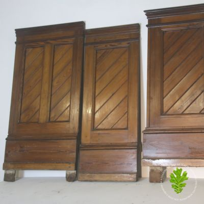 3 no sections of pitch pine paneling