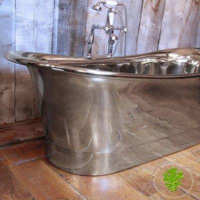 Polished Nickel Bateau Bath