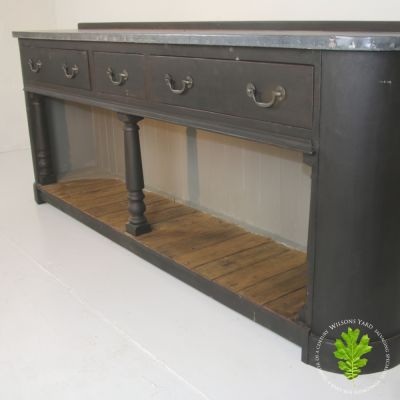 Beautiful painted side server with zinc top.