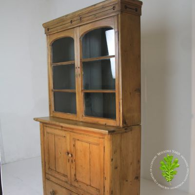 Nicely restored 19th century glazed pantry / kitchen larder cupboard