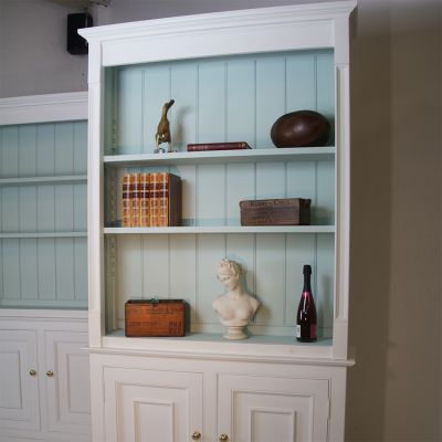 Bespoke bookcase display cabinet