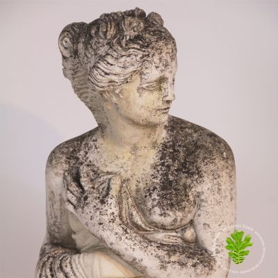 Beautifully weathered garden statue