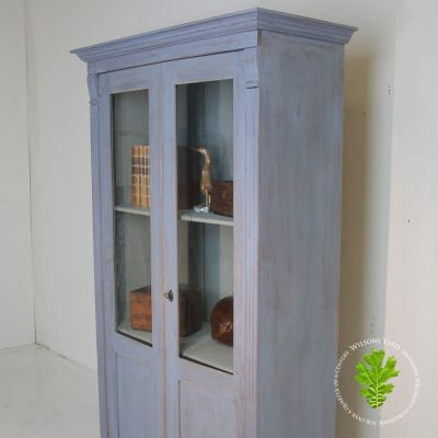 Vintage French Blue Glazed Cabinet