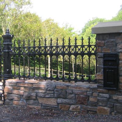 Stewart half height cast iron railing
