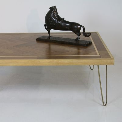 Beautiful parquet topped coffee table