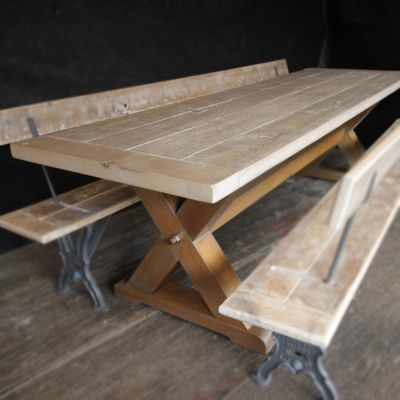 Bespoke X Legged Table Base
