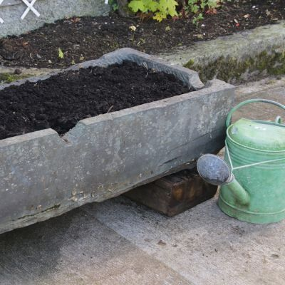 Lovely unusual 19th century Welsh slate trough / planter