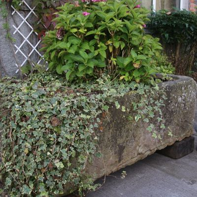 Large 19th century stone trough nicely weathered