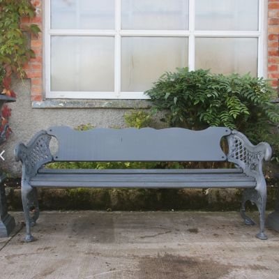 Beautiful decorative cast iron bench