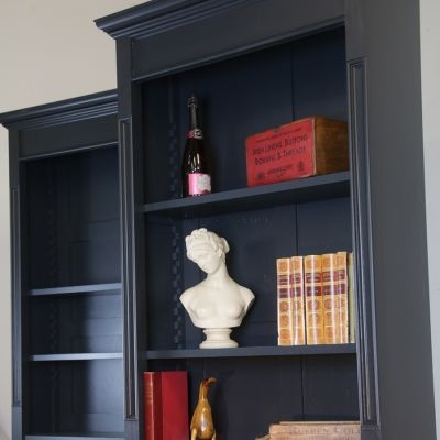 Pair of petite stylish bookcases