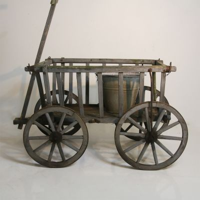 Beautiful vintage European farm cart