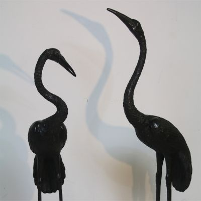 Pair of decorative Bronze cranes