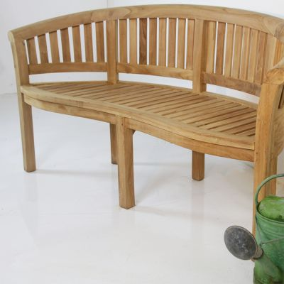 Hardwood garden / conversation bench