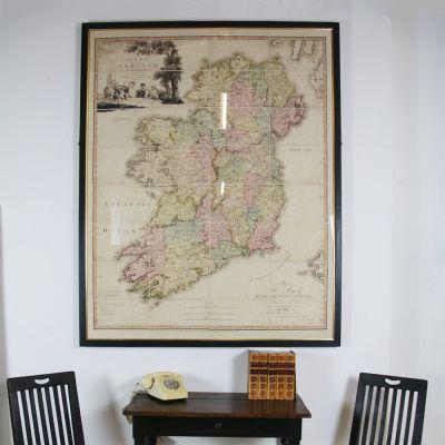 Black framed map of Ireland