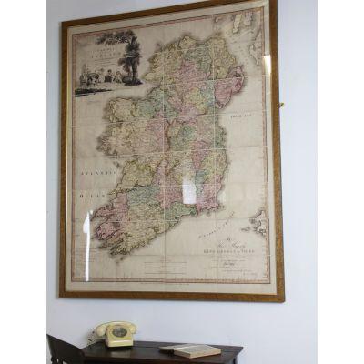 Maple framed map of Ireland