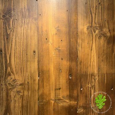 Reclaimed paper mill pine overlap flooring