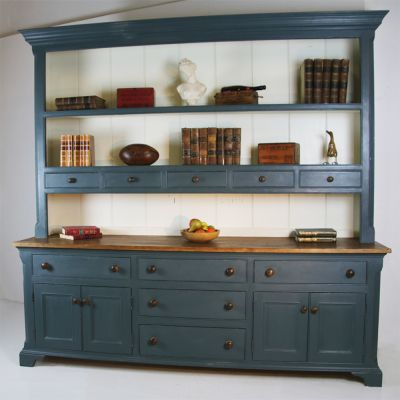 Large Hand Made Dresser With  Canted Corners & Spice drawers