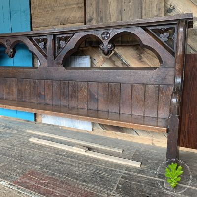 19th century gothic church pews