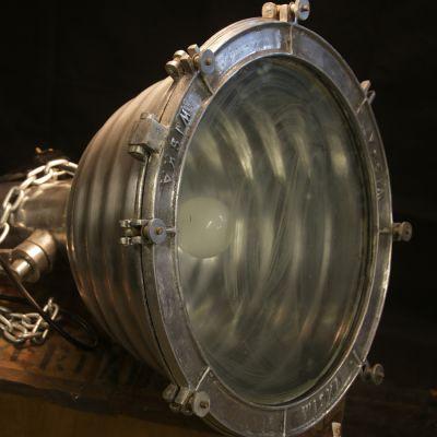Pair of cast Aluminium Russian ship lights