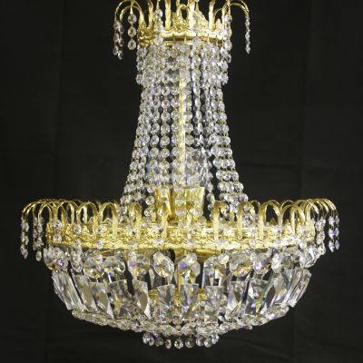 Stunning vintage French Bronze & Crystal chandelier