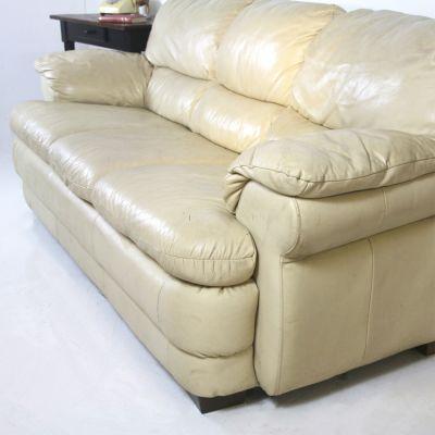 Contemporary Cream 3 Seater Settee