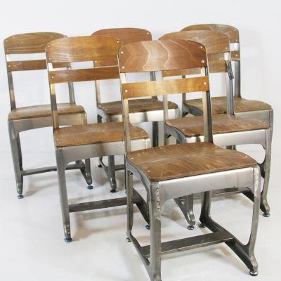 Set of 6 Eton steel framed chairs