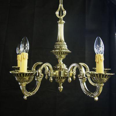 Fine quality petite English cast Brass chandelier