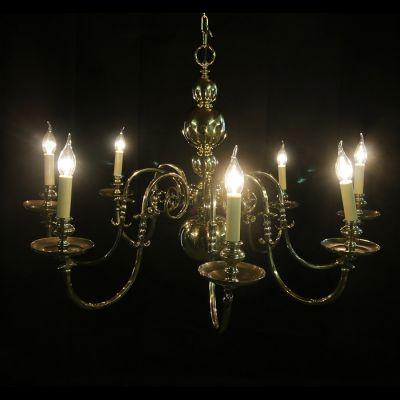 Beautiful restored vintage Brass chandelier