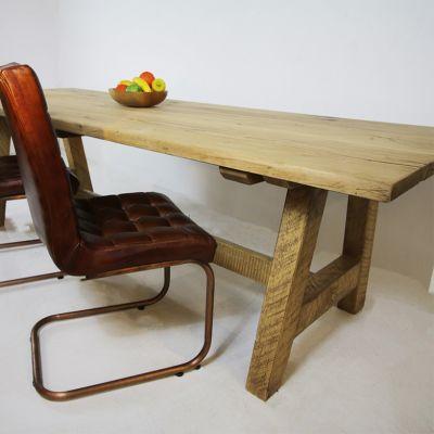 Restored antique rustic Oak kitchen table