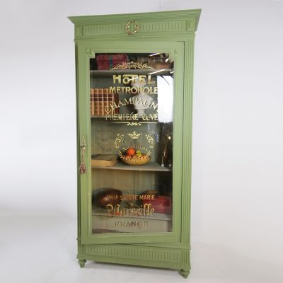 Antique French single door Vitrine