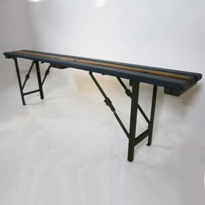 Fold up slotted bench seat