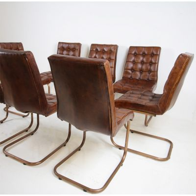 Sets of 4 stylish leather dining chairs