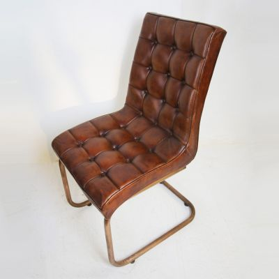 Sets of stylish leather dining chairs