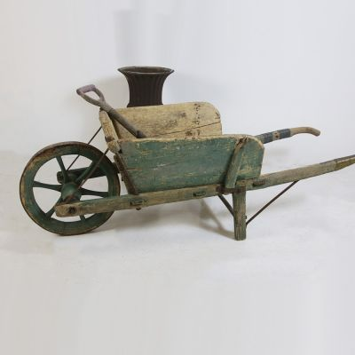 19th Century French garden wheel barrow