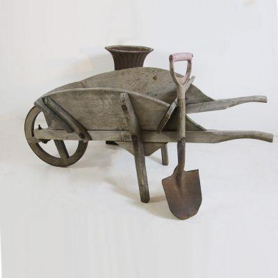 Fantastic antique garden wheel barrow