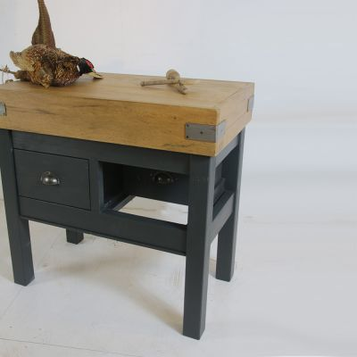 Large butchers block with 2 drawers