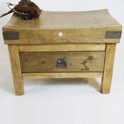 Vintage single drawer butchers block