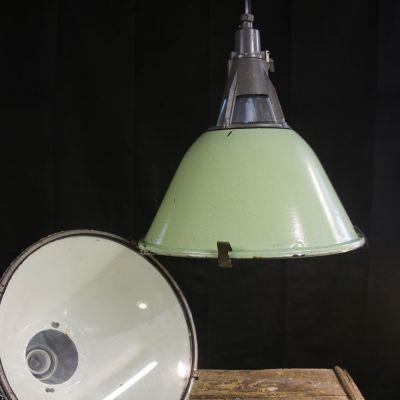Pale Green Enamel Industrial Light