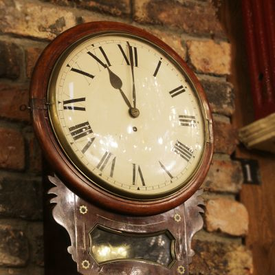 English fusee drop dial clock