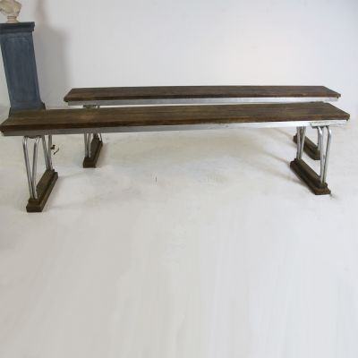 Pair of industrial style benches