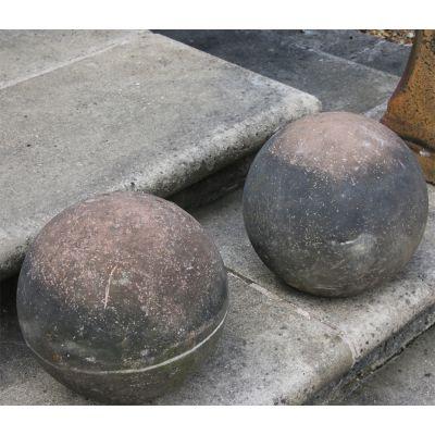 Splendid pair of ball finials