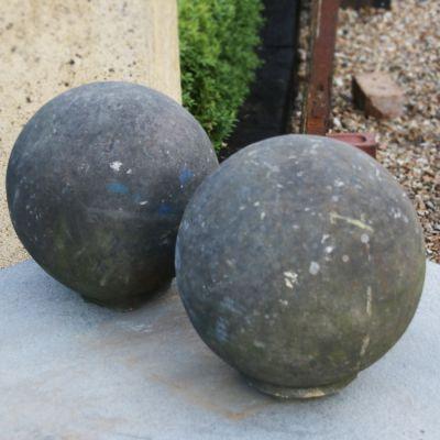 Pretty pair of  Georgian sandstone  ball finials