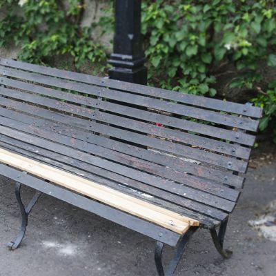 Edwardian roll top garden bench