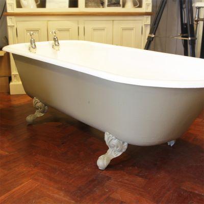 Original Edwardian roll top bath