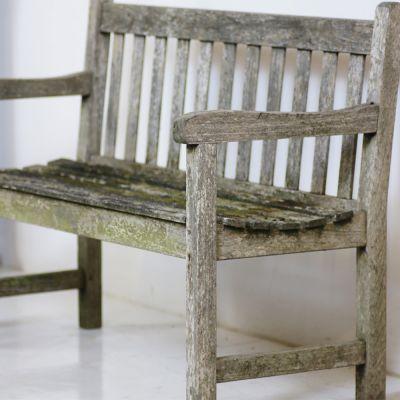 Vintage wooden garden bench