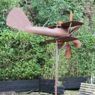 Metal aeroplane wind vein
