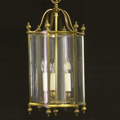 Vintage hexagonal Brass lantern
