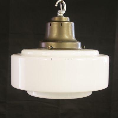 Vintage globe light with brass gallery